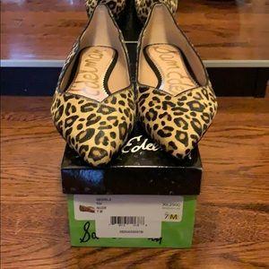 Brand new Sam Edelman leopard fur flats